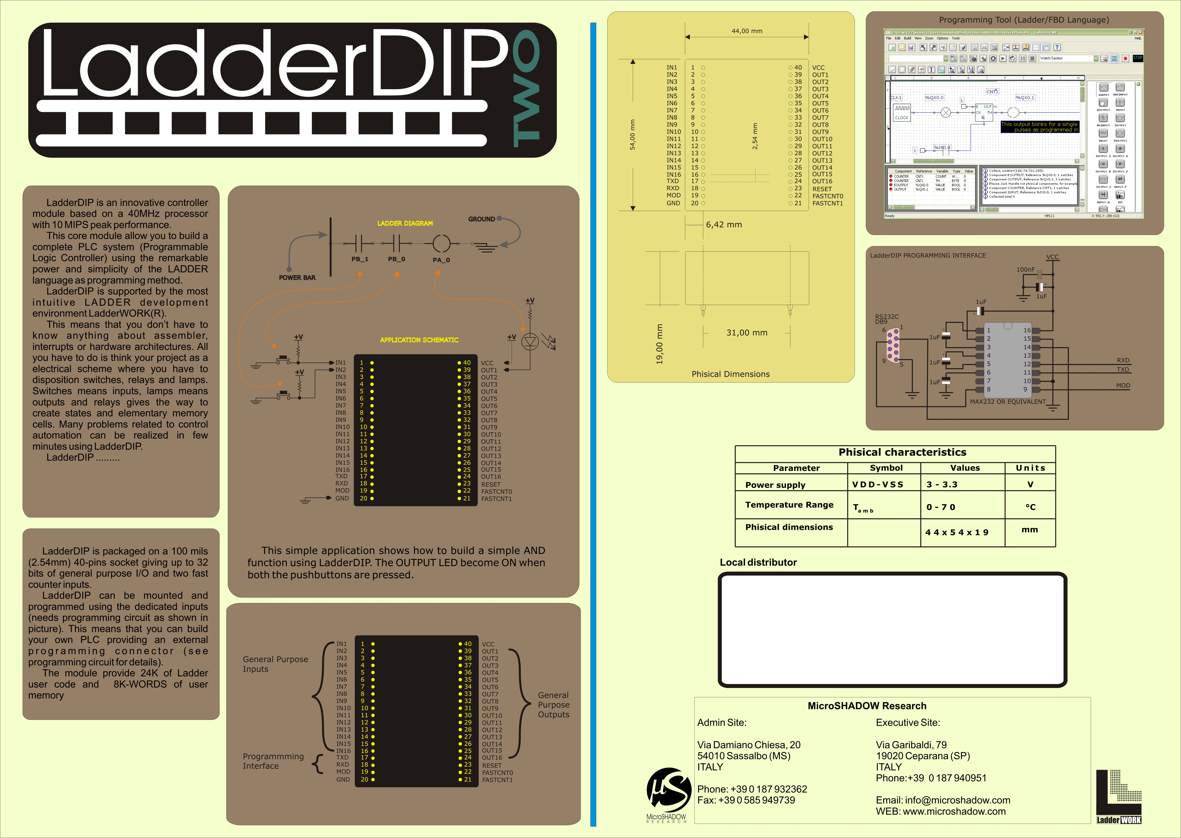 Microshadow Research Home Page This Ladder Diagram Arrangement May Be Easily Coded As Shown In The Link Http Files Ladderdip Ld2